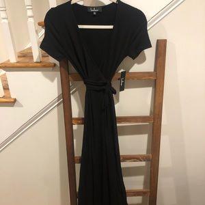 NWT lulus back maxi wrap dress